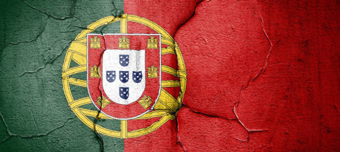 portuguese flag cracked
