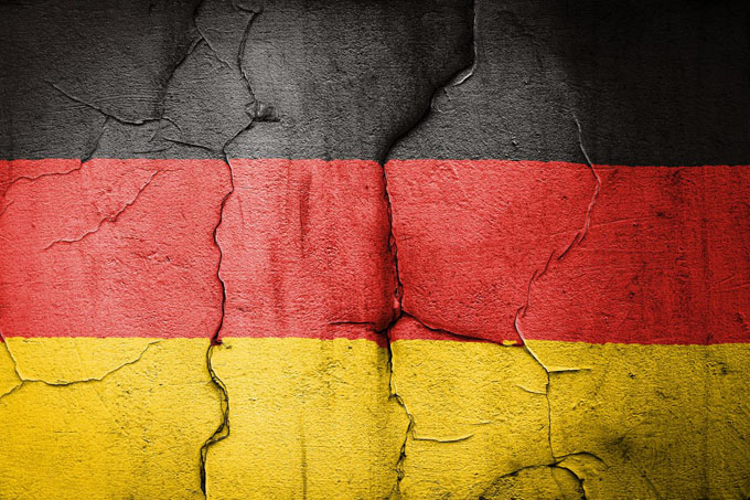 german flag cracked