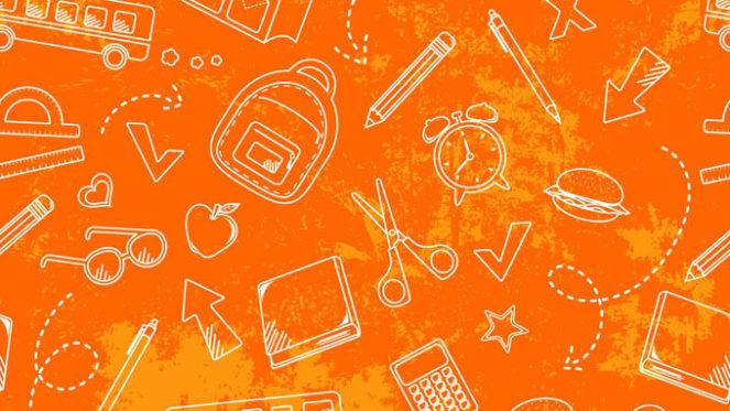 orange back to school background