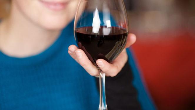 wine in hand